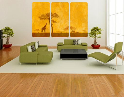 Wallprint Amazing Kenya Triptychon S - 54cm x 36cm