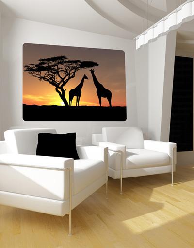 Wallprint African Sunset S - 48cm x 36cm