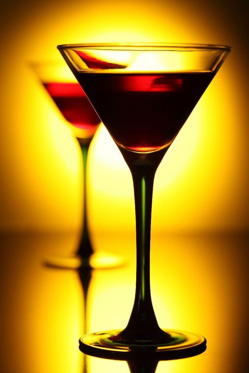 """Poster """"Cocktail im Scheinwerferlicht"""""""