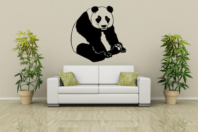 wandtattoo panda online bei print it all kaufen. Black Bedroom Furniture Sets. Home Design Ideas