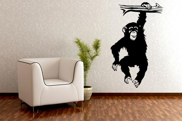"""Wandtattoo """"Schimpanse am Ast"""""""