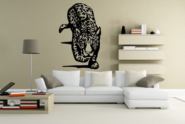 wandtattoo gepard auf der jagt online bei print it all kaufen. Black Bedroom Furniture Sets. Home Design Ideas