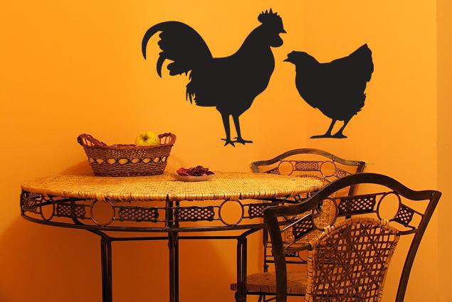 wandtattoo huhn und hahn online bei print it all kaufen. Black Bedroom Furniture Sets. Home Design Ideas