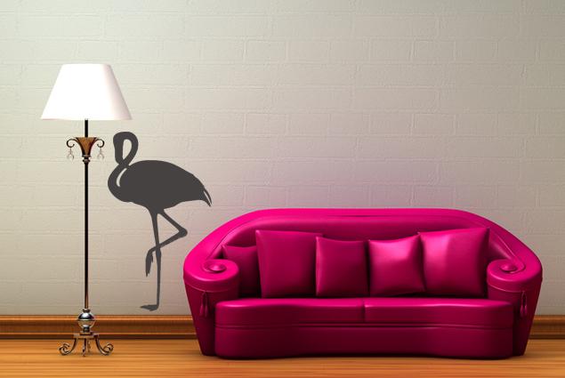Wandtattoo flamingo online bei print it all kaufen - Flamingo wandtattoo ...