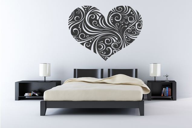 wandtattoo herz tribal online bei print it all kaufen. Black Bedroom Furniture Sets. Home Design Ideas
