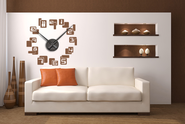 wanduhr retro online bei print it all kaufen. Black Bedroom Furniture Sets. Home Design Ideas