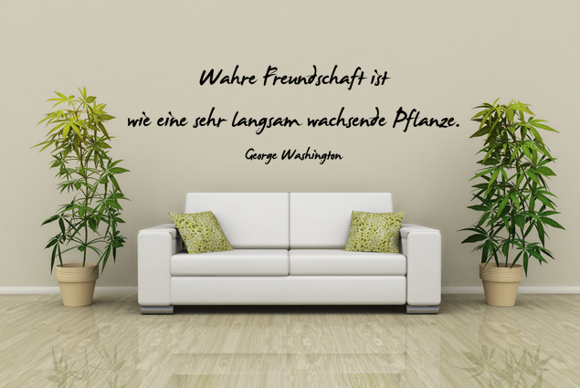 wandtattoo wahre freundschaft ist wie eine sehr langsam. Black Bedroom Furniture Sets. Home Design Ideas