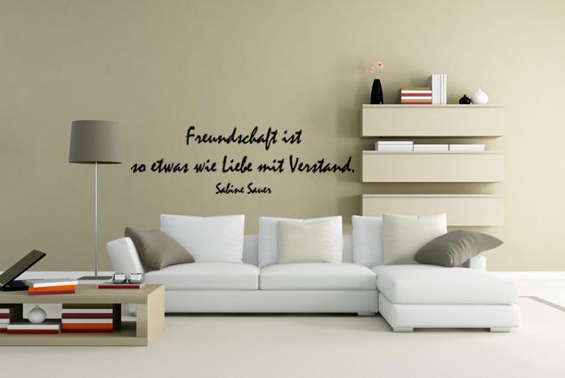 wandtattoo freundschaft ist so etwas wie liebe mit verstand online bei print it all kaufen. Black Bedroom Furniture Sets. Home Design Ideas