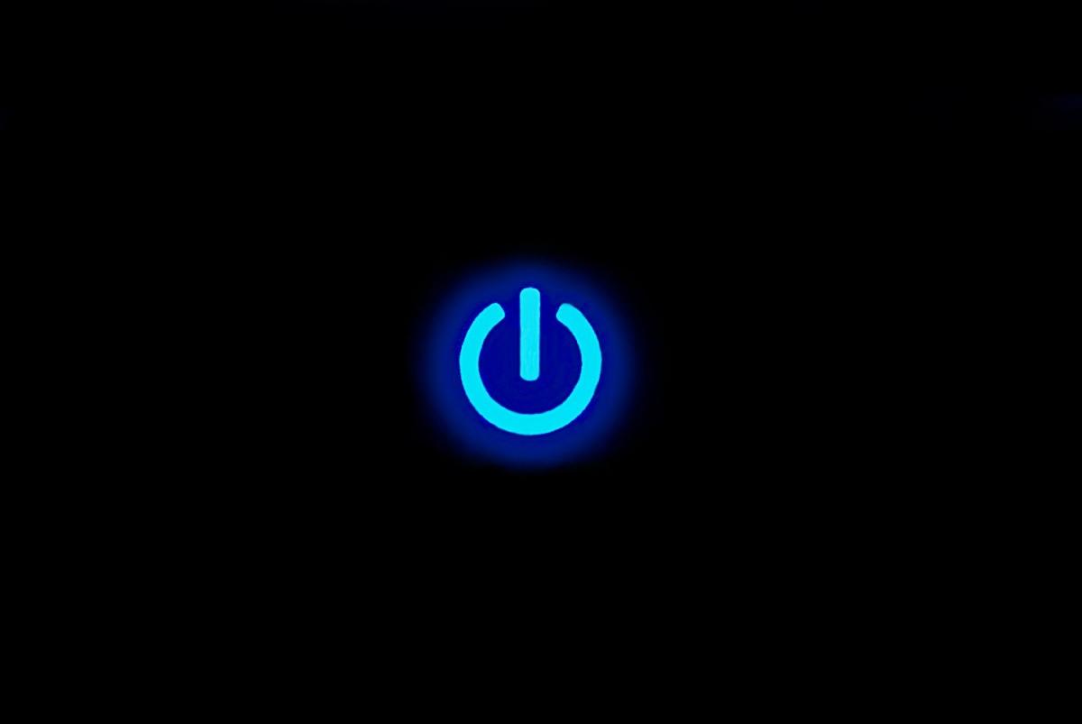 "Poster ""blue power"""