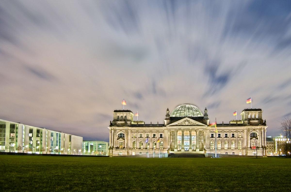 "Poster ""german parliament"""