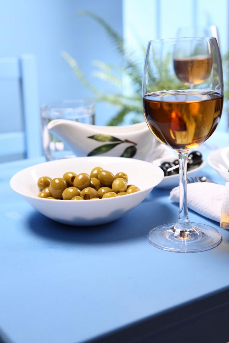 """Poster """"Wein und Oliven"""""""
