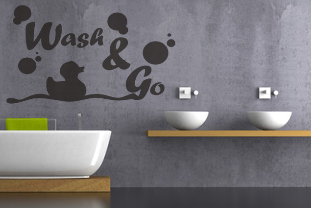 "Wandtattoo ""Wash & Go"""