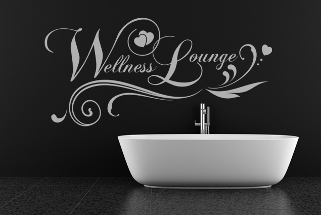 "Wandtattoo ""Wellness Lounge"""