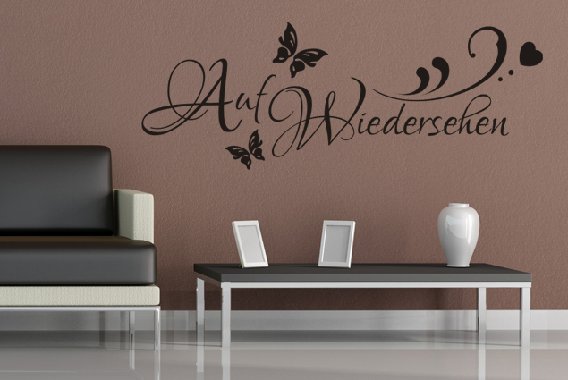 wandtattoo auf wiedersehen online bei print it all kaufen. Black Bedroom Furniture Sets. Home Design Ideas