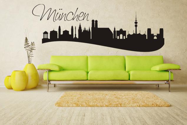 """Wandtattoo """"Skyline München"""""""