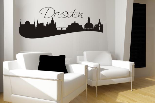 "Wandtattoo ""Skyline Dresden"""