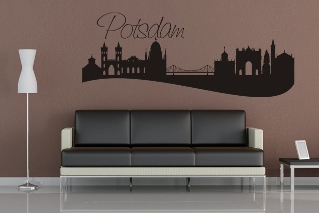 wandtattoo skyline potsdam online bei print it all kaufen. Black Bedroom Furniture Sets. Home Design Ideas