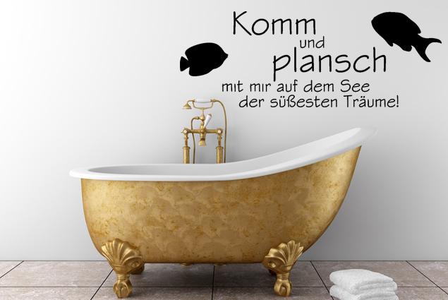 """Wandtattoo """"Komm und Plansch"""""""