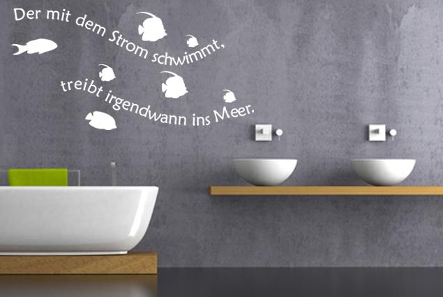 """Wandtattoo """"Stom und Meer"""""""