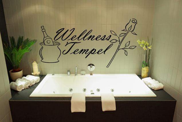 "Wandtattoo ""Wellness Tempel"""
