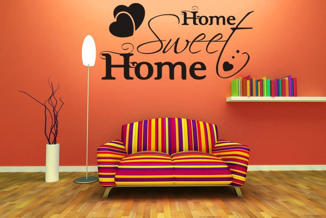 wandtattoo home sweet home online bei print it all kaufen. Black Bedroom Furniture Sets. Home Design Ideas