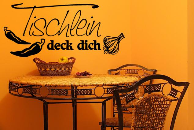 """Wandtattoo """"Tischlein deck dich"""""""