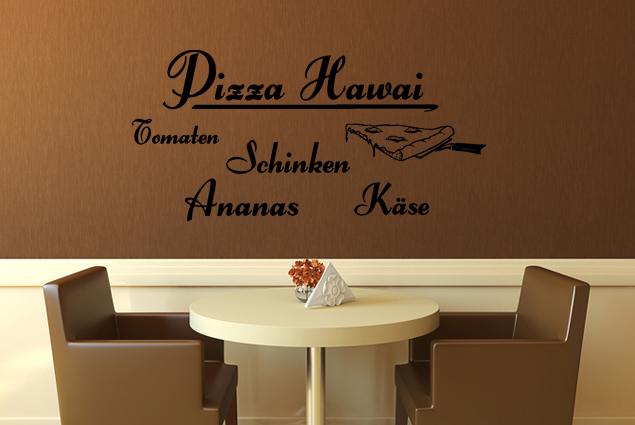 """Wandtattoo """"Pizza Hawai"""""""