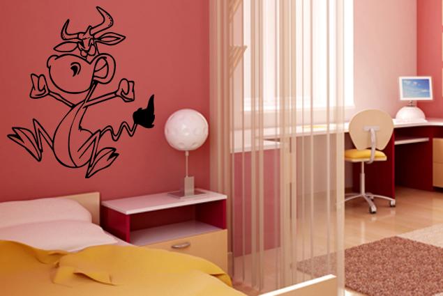 wandtattoo lustige kuh online bei print it all kaufen. Black Bedroom Furniture Sets. Home Design Ideas