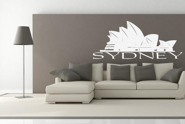 wandtattoo sydney online bei print it all kaufen. Black Bedroom Furniture Sets. Home Design Ideas