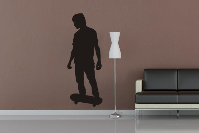 wandtattoo skater online bei print it all kaufen. Black Bedroom Furniture Sets. Home Design Ideas