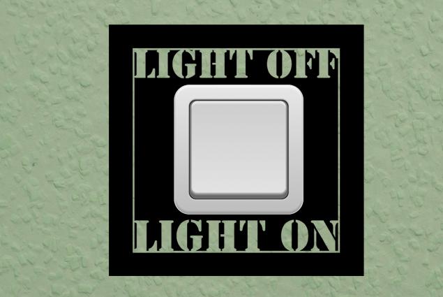 "Steckdosentattoo ""Light Off On"""