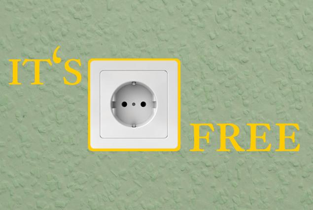"Steckdosentattoo ""IT'S FREE"""