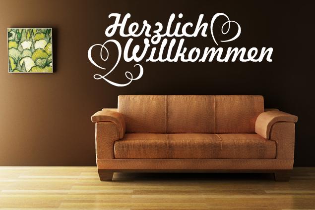 wandtattoo herzlich willkommen online bei print it all kaufen. Black Bedroom Furniture Sets. Home Design Ideas