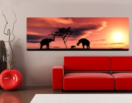 Wallprint African Elefant Family