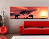 Wallprint African Elefant Family