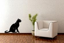"""Wandtattoo """"Katze auf dem Sprung"""""""