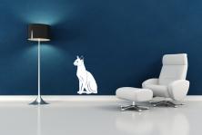 """Wandtattoo """"sitzende Katze"""""""