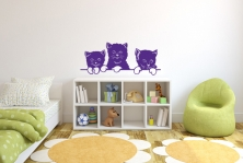 """Wandtattoo """"Die drei Kätzchen"""""""