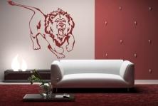 """Wandtattoo """"Löwe auf der Jagt"""""""