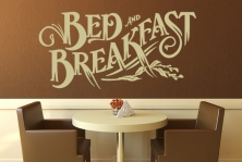 "Wandtattoo ""Bed and Breakfast"""