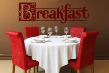 "Wandtattoo ""Breakfast"""
