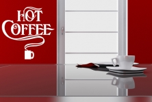 "Wandtattoo ""Hot Coffee"""