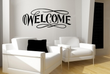 "Wandtattoo ""Welcome"""
