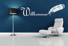 """Wandtattoo """"Willkommen"""""""