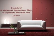 """Wandtattoo """"Freundschaft ist die stillschweigende Übereinkunft zweier Feinde die für gemeinsame Beute arbeiten wollen."""""""