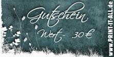 """Gutschein """"30,00€"""""""