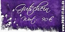 """Gutschein """"90,00€"""""""