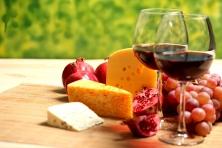 """Poster """"Wein und Käse"""""""