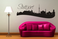 "Wandtattoo ""Skyline Stuttgart"""