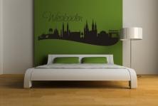 """Wandtattoo """"Skyline Wiesbaden"""""""
